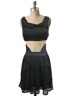 Costa Blanca High Waist Lace Costa From Urban Outfitters Skirt black
