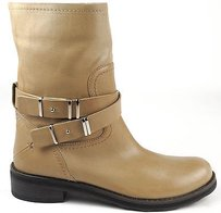 CoSTUME NATIONAL Tan Leather Buckle Straps Ankle Eu Beige Boots