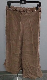 CP Shades Cp Distressed Full Length Ruffled Elastic Waist Szm 3049 Maxi Skirt Brown