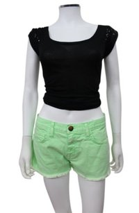 Current/Elliott Green Lime The Boyfriend Shorts Lime green