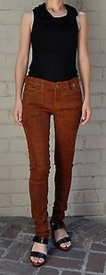 Current/Elliott The Ankle Skinny Suede 100 Lamb Leather 2830 Pants