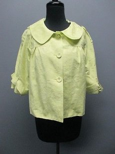 Cynthia Steffe Cynthia Neon Floral Cotton Lined Cropped 2740 Green Jacket