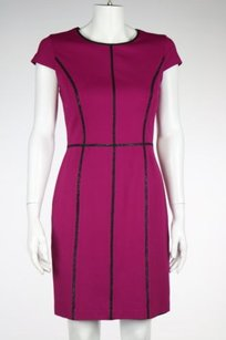 Cynthia Steffe Womens Color Block Formal Knee Length Sheath Dress