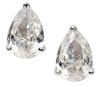 CZ by Kenneth Jay Lane CZ By Kenneth Jay Lane 10ct Pear Shape Stud Earrings