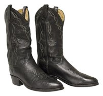 Dan Post Cowboy Leather Black Boots