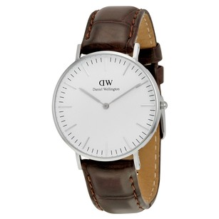 Daniel Wellington Classic York White Dial Brown Leather Ladies Watch 0610DW