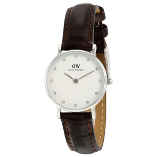 Daniel Wellington Classy York White Dial Brown Leather Ladies Watch 0922DW