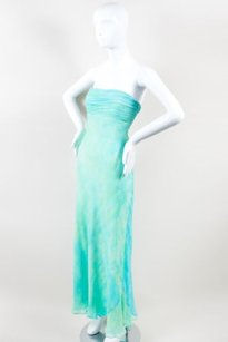 Green Maxi Dress by David Meister Blue Silk