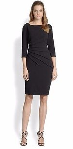 David Meister Pleated Dress