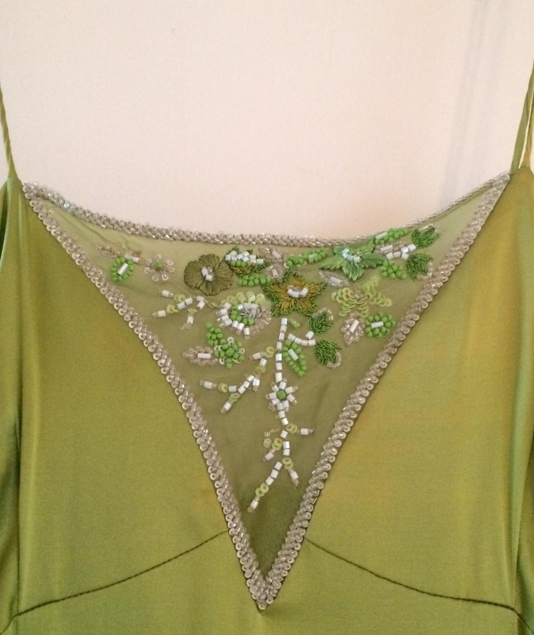 chartreuse prom dress