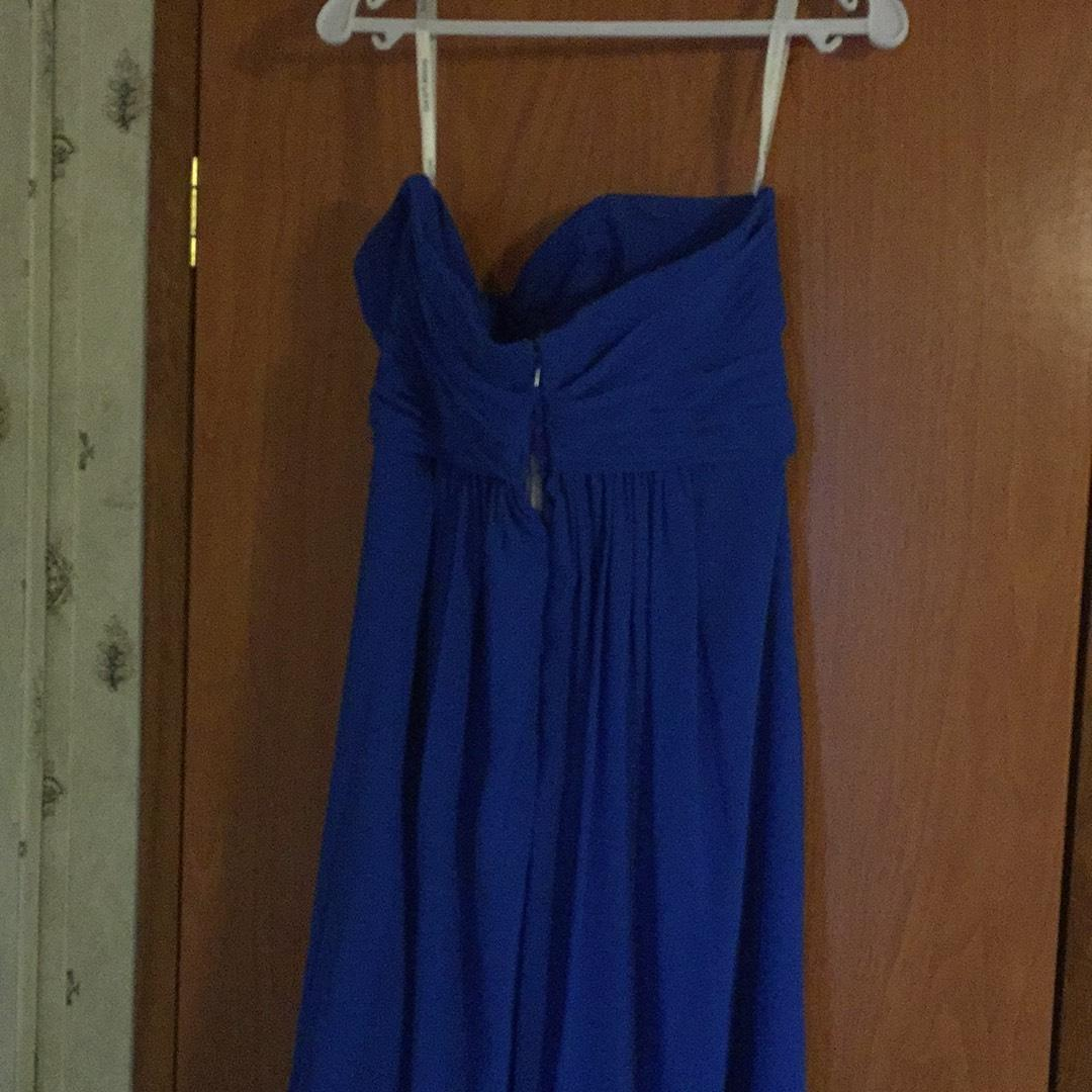 Davids Bridal Royal Blue None Long Formal Dress Size 12 L Tradesy