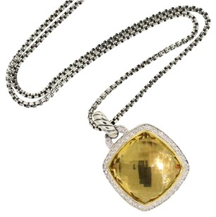 David Yurman Albion Pendant with Diamonds and 18K Gold on Chain