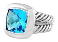 David Yurman Albion Ring with Blue Topaz