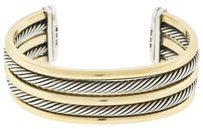 David Yurman David,Yurman,18k,Gold,And,Sterling,Silver,Twist,Rope,Ladies,Cuff,Bracelet