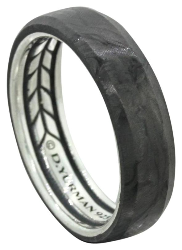 David Yurman 925 Solid Sterling Silver Black Forged Carbon 6mm Wedding Band  Ring ...