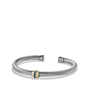 David Yurman Cable Classics Single-Station Bracelet with Sapphires, 5mm