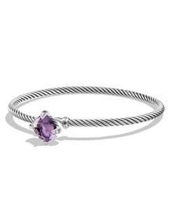 David Yurman Chatelaine Bracelet with Amethyst and Diamonds (Medium)
