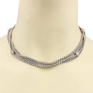 David Yurman David Yurman 1.00ct Diamonds Silver 18k Gold Multi-strand Box Chain Necklace