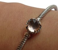 David Yurman David Yurman 3mm Morganite Chatelaine Bangle SzM