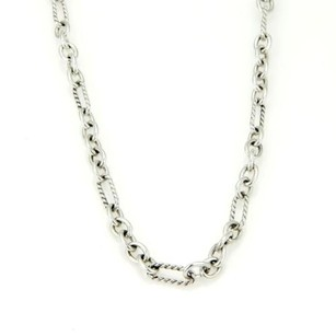 David Yurman David Yurman 925 Silver 18k gold Cable Link Chain toggle Clasp 15.5