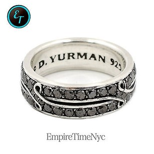 David Yurman David Yurman Armory Crossover Band Ring With Black Diamonds Ref R15219mssabd9