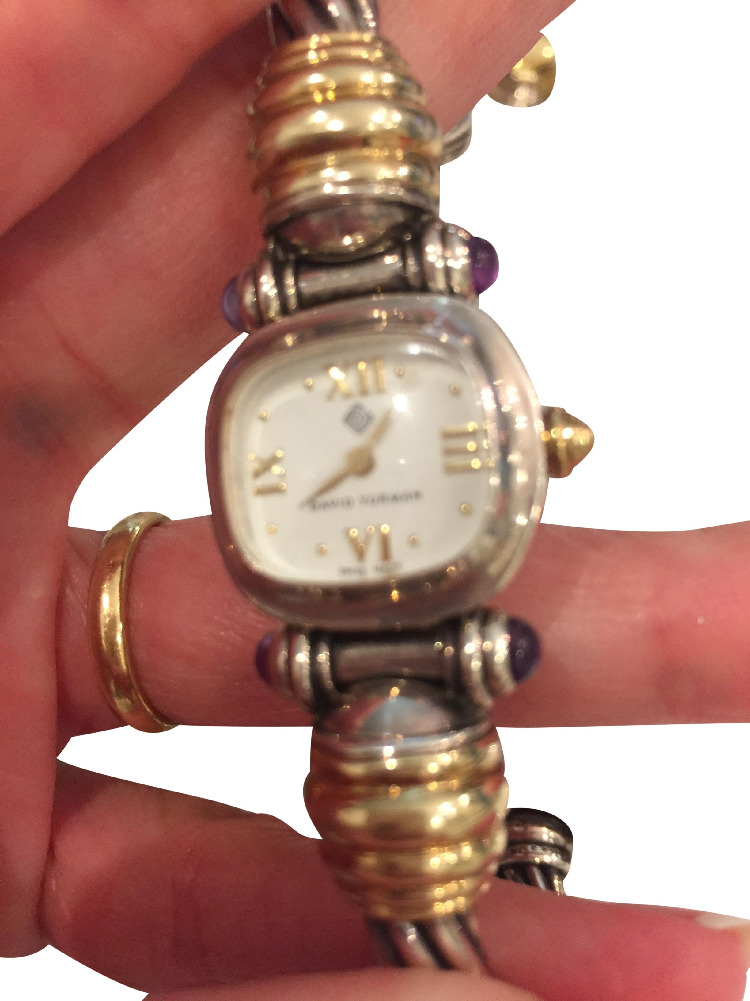 david yurman david yurman cable watch with amethyst gold
