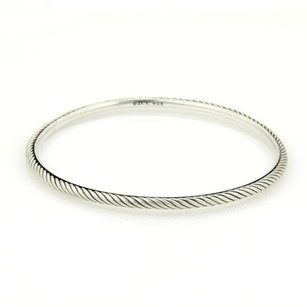 David Yurman David Yurman Elegant 925 Sterling Silver Cable Wire Bangle
