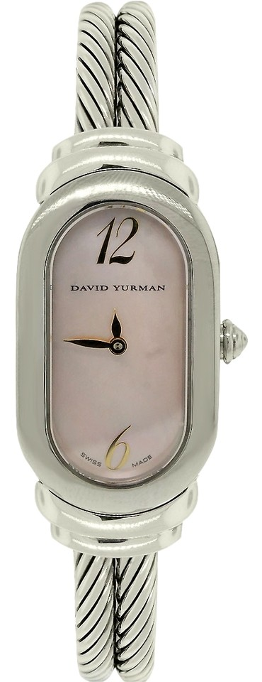 david yurman david yurman pink mother of pearl double cable watch