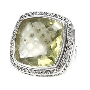 David Yurman David Yurman Sterling Silver 20mm Citrine Diamond Albion Ring Size 6