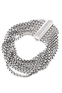 David Yurman David Yurman Sterling Silver Eight-row Box Chain Bracelet