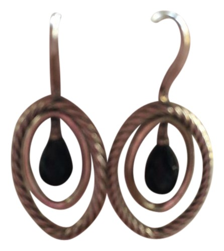 DAVID YURMAN EARRING MOBILE SILVER ONYX