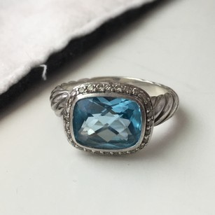 David Yurman Noblesse Blue Topaz Ring