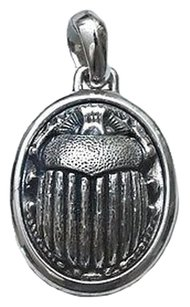 David Yurman Sterling Silver Petrvs Scarab Amulet Pendant on Box Chain