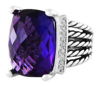 David Yurman Wheaton Ring with Amethyst and Diamonds