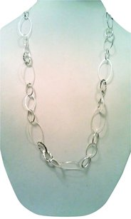 Decree Silver Loop & Hammered Sectional Neckace