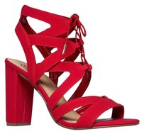 Delicious Blocksandal Covetlist Red Sandals