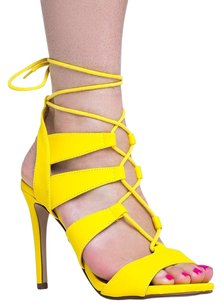 Delicious Heels-and-pumps Yellow Sandals