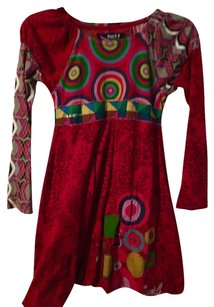 Desigual short dress Red on Tradesy