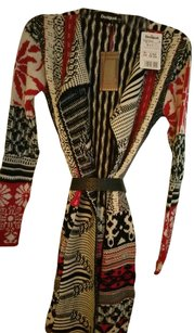 Desigual Statement Piece Long Sweater Coat Great Patterns Soft Knit Sweater Nwt Cape