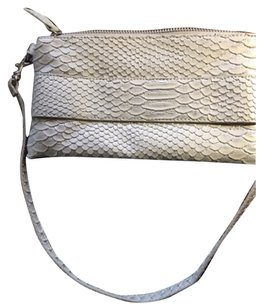 Devi Kroell Vintage Zippered Light Gray Clutch