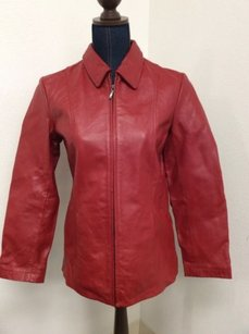 Dialogue Leather Red Jacket