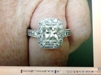 DIAMOND WHITE GOLD Engagement Ring DIAMOND ENGAGEMENT RING AMAZING