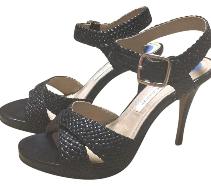 Diane von Furstenberg Black Xx Sandals Size US 6.5 Regular (M, B)