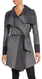 Diane von Furstenberg Dvf Mackenzie Two-tone Color Block Wool Blend Trench Coat