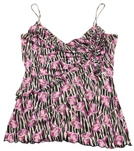 Diane von Furstenberg Top Purple, Black, and White