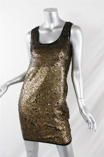 Diane von Furstenberg short dress Multi-Color Dvf Womens Chika Gold Sequined Sleeveless Mini on Tradesy