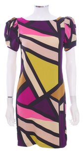 Diane von Furstenberg Silk Geometric Shift Dress