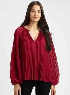 Diane von Furstenberg Dvf Raspberry Kara Top Red