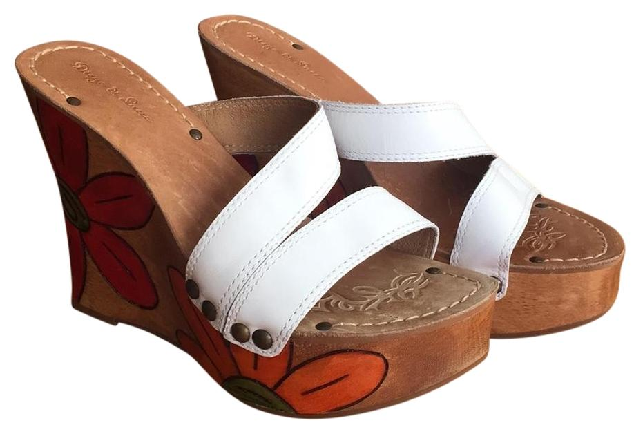 Diego di Lucca white leather Wedges ...