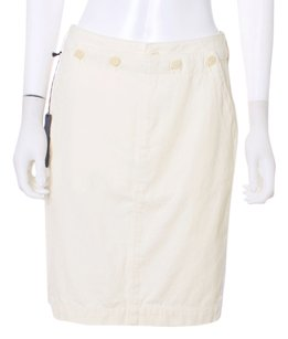 Diesel Denim Blak Gold Designer Couture Italian Skirt Winter White